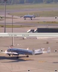 Lockheed Constellation HB-RSC Zurich Airport webcam capture (AirportWebcams.net) Tags: webcam airport zurich capture lockheed constellation zrh lszh hbrsc