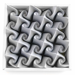 Svastica-B #origami #tessellation #corrugation (_Ekaterina) Tags: paper spiral origami gray curve tessellation corrugation tant paeprfolding ekaterinalukasheva