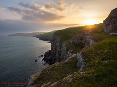 At the End of a Perfect Day (TDR Photographic) Tags: uk light sunset sea england landscape evening dorset quarry contrejour possibles dorsetcoastpath thedorsetrambler