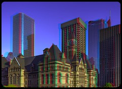 Old City Hall, Toronto 3-D ::: HDR/Raw Anaglyph Stereoscopy (Stereotron) Tags: toronto architecture modern radio canon eos stereoscopic stereophoto stereophotography 3d downtown raw control contemporary kitlens twin anaglyph financialdistrict stereo stereoview to remote spatial 1855mm hdr redgreen tdot 3dglasses hdri transmitter stereoscopy synch anaglyphic optimized in threedimensional hogtown stereo3d newtownhall thequeencity cr2 stereophotograph anabuilder thebigsmoke synchron redcyan 3rddimension 3dimage tonemapping 3dphoto 550d torontonian hyperstereo stereophotomaker 3dstereo 3dpicture quietearth anaglyph3d yongnuo stereotron