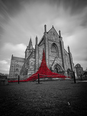 E-Motion (MBDGE) Tags: life uk red blackandwhite motion blur loss contrast scotland orkney cathedral alba kitchener filter nd 100 ww1 remembrance kirkwall legion jutland stmagnus royalnavy jellicoe scapaflow canon70d