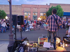PK Gregory at Clarkdale Block Party (EllenJo) Tags: arizona mainstreet pentax az event blockparty mytown fridaynight streetparty verdevalley 2016 may27 smalltownlife clarkdalearizona 86324 ellenjo ellenjoroberts summerinaz may2016 pentaxqs1