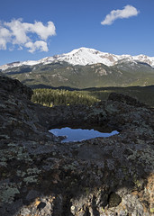 28 May 16 Sky Reflected (ethanbeute) Tags: forest colorado hiking hike snowcapped trail coloradosprings summit cascade pikespeak utepass pikenationalforest heizertrail