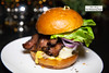 Lower East Sider - Burger topped with pastrami, gruyere, horseradish mustard (thewanderingeater) Tags: nyc manhattan lowereastside theburgary