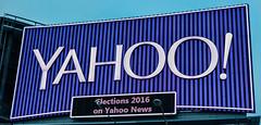 yahoo! (pbo31) Tags: sanfrancisco california news color sign yahoo spring nikon highway purple ad may overpass billboard company bayarea feed soma elections 80 6th 2016 boury pbo31 d810