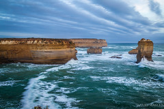Loch Ard Gorge (David Maslen) Tags: ocean blue cliff seascape motion beach nature water sunrise canon landscape coast rocks aqua waves natural turquoise rocky australia victoria gorge greatoceanroad rockformations lochardgorge movingwater landscapephotography rockstacks canon6d
