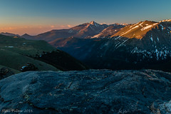 Sunrise On Longs Peak (Pulver41) Tags: sunrise landscape morninglight longspeak nationalparks rockymountainnationalpark trailridgeroad firstlight rockcut forestcanyon