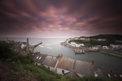 x.2 (SAR1N) Tags: done porthleven cornwall uk nikon d90 sigma 1020mm sunset red longexposure clocktower sea
