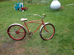 In the beginning (The Mac 3) Tags: bike sand mod paint engine kit 1960s modification install flyinghorse bicylce 2stroke beachcruiser rollfast