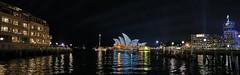 Vivid (Bill Thoo) Tags: urban panorama night landscape lights colours harbour sony sydney australia nsw therocks operahouse sydneyharbour sydneyoperahouse 2016 14mm samyang vividlightfestival a7rii