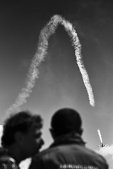 The secret (Cosmin Garlesteanu) Tags: clinceni romania airshow story sky airplanes bw