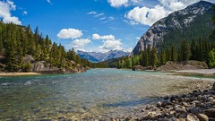 Bow River (claudeallaert) Tags: mountains alberta current manualfocus bowriver banffnationalpark carlzeissplanar1750 sonyilce7