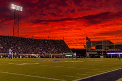 ECU Football '14 (R24KBerg Photos) Tags: sunset sky orange sports nature beautiful beauty weather clouds canon outdoors fire football nc amazing athletics dusk stadium northcarolina ncaa nightfall ecu eastcarolinauniversity 2014 greenvillenc ecupirates dowdyficklenstadium eastcarolina eastcarolinapirates