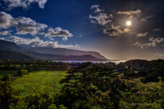 Exploring Moments in Hawaiian Standard Time (Fort Photo) Tags: ocean travel sun nature skyscape landscape island coast nikon paradise afternoon pacific scenic panoramic kauai tropical sunburst tropics hdr hanalei starburst d500 hanaleibay kauaicounty menefee kauai michaelmenefee