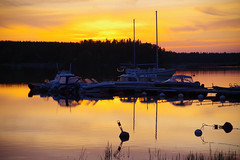 Daily sunset (STTH64) Tags: sunset sea sky sun water skyline clouds finland boats evening outdoor dusk serene vaasa