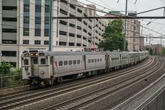 Arrows Against the Rush (Nick Gagliardi) Tags: train trains railroad electric northeast corridor amtrak acs64 nj transit njt new jersey arrow iii mu emu alp46 alp45dp
