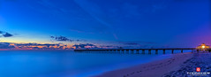 Florida Life: Midnight Blue (Thncher Photography) Tags: longexposure beach nature sunrise landscape outdoors pier sand florida sony scenic tropical bluehour jupiter fullframe fx atlanticocean waterscape junobeach oceanscape southeastflorida noctography zeissfe1635mmf4zaoss a7r2 ilce7rm2 sonya7r2