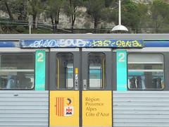 1005 (en-ri) Tags: train writing graffiti tag giallo bianco imperia ventimiglia seka t35 soua erso