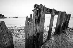 Decay (www.chrisbirds.com) Tags: wood old travel blackandwhite beach water photography ruins rocks fuji decay jetty yorkshire hull humber foreshore 2016 chrisbird xt1 fujixt1 wwwchrisbirdscom