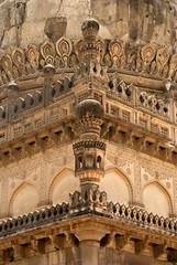 Minaret of the Tomb of Abdulla Qutub Shah VI (VinayakH) Tags: india gardens persian graves hyderabad domes crypt tombs qutubshahitombs telangana ibrahimbagh