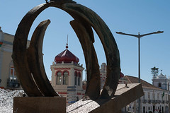 Framed Dome! (swordscookie back and trying to catch up!) Tags: sculpture portugal fountain june town centre marketplace framing algarve 2016 loul