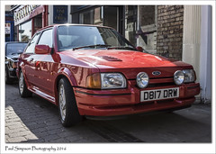 Ford Escort MkIV (Paul Simpson Photography) Tags: red classic cars ford car classiccar lincolnshire classics british fordescort brigg photosof imageof photoof imagesof forduk sonya77 paulsimpsonphotography fordescortmkiv borderclassicrally