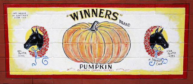 Columbia, TN Mural: Winners brand Pumpkin