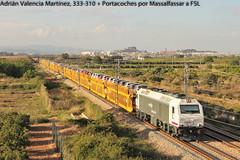 Pursuit of the train (III) (Adrin Valencia Martnez) Tags: 333 prima opel renfe alsthom vossloh massalfassar cdea portacoches
