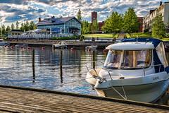 Iisalmi (Tuomo Lindfors) Tags: lake water marina suomi finland restaurant pier boat harbour vesi satama vene adjust jrvi ravintola laituri iisalmi venesatama topazlabs porovesi olutmestari