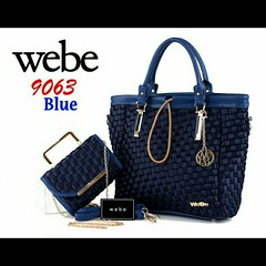 Import @305 Bag Webe 9063 2in1 31x12x32cm Polyester #Tote#Semipremium#6Colours (merboutique) Tags: tote 6colours semipremium