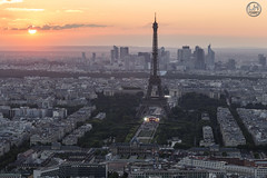 sunlight paris (apparencephotos) Tags: sunset paris rooftop toureiffel ladfense puteaux tourmontparnasse
