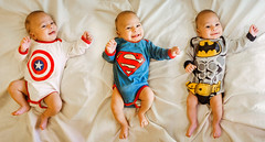 superbaby (Rattle your goddamn head!) Tags: baby babe motherhood batman superman captain america superhero love mom three light lightroom nikon d5100 5100 d nikkor 1855 flash youngnuo