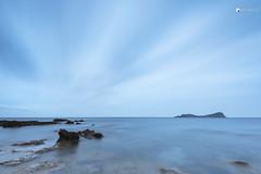Light blue (ql uOs) Tags: longexposure sea water night clouds stars island atardecer nikon rocks mediterraneo ibiza nubes estrellas d750 fx sancarlos rocas baleares islote largaexposicin tagomago poudeslleo