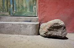 Prehistoric Impediment (Maria Sciandra) Tags: red texture rock mexico urbanexploration sanmigueldeallende weathered sonyrx100 mariasciandraphotography mariasciandracom