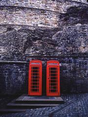 Red (dougfot) Tags: red castle mamiya film lens scotland 645 edinburgh kodak box telephone mf 45mm 100asa cpl ektar polariser m645 douggoldsmith