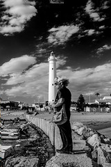 The watcher and the tower (Fabio Caf) Tags: puntasecca ragusa montalbano lightower towerlight lights barocco isole isaola sicilia vacanze holiday trip mediterraneo