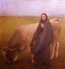 Pascal Dagnan-Bouveret  In the Meadow, 1892. Painting: oil on canvas. RealismGenre PaintingFarm Life (ArtAppreciated) Tags: poverty life art history nature girl animals modern female century rural portraits painting french outdoors cow early cows farm fineart meadow daily blogs portraiture artists late pascal peasants genre figurative 19th realism 1890s bouveret artblogs dagnan tumblr artoftheday artofdarkness academicism date1892 artappreciated artofdarknessco artofdarknessblog