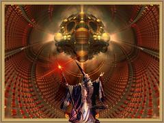 conjuring (bloorose-thanks 4 all the faves!!) Tags: 3d render magic fantasy fractal mage sorcerer crazygeniuses mandelbulb