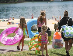 A day at the beach - Smith Mountain Lake State Park (vastateparksstaff) Tags: family sun beach kids swimming mom fun sand shore floats lifering totes