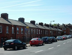 Little Red Brick Houses (mikecogh) Tags: street dublin row same repetition chimneys redbrick terracedhouses