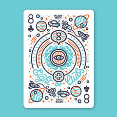 My 8 of clubs card for @playingarts contest  #PlayingArtsContest You can help my card get chosen, just click the link below and hit the like button: http://ift.tt/29JNm3Q Thanks for your support! (hugraphic) Tags: playing david eye tom illustration stars cards major bowie infinity space alien arts astronaut brain ufo deck mind knowledge clubs planets spaceship universe eight vector