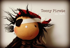 Teeny Pirate (Les PouPZ) Tags: toy waldorf artdoll doudou ragdoll dukker clothdoll poupeedechiffon cuddledoll lespoupz stoffepuppen