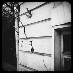 Crack [1] (Andrey  B. Barhatov) Tags: city urban blackandwhite bw noir msk worldmap citywalks iphonecamera kitcam