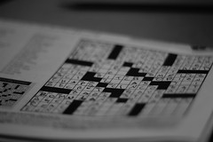 Word (TamedYoungMind) Tags: b blackandwhite monochrome canon newspaper words w letters crossword puzzle