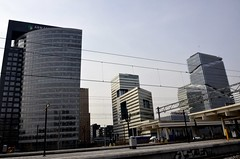 Amsterdam Skyscrapers at Amstel area (SpirosK photography (back!)) Tags: holland netherlands architecture modern skyscrapers impressive amstel tallbuildings  archiworld
