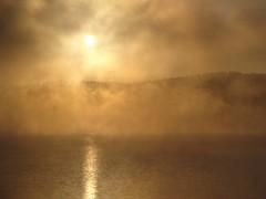 09-DSC02007 (Fellux) Tags: fog sunrise warm wasser nebel sommer landschaft sonne sonnenaufgang gegenlicht dunst frh schwaden verdunstung landschaftsfotografie