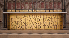 The Word became flesh (ned the head) Tags: flesh john word truth cathedral grace ely gospel ladychapel