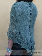 Szlinapi Gingko (KicsiKat) Tags: green shawl knitted kend kttt