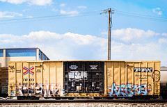RAEMS|KERSE (knight owls) Tags: california ca train graffiti freight amfm kerse benching raem caligraffiti raems knightowls