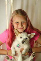 IMG_7025 (uyht) Tags: pink dog girl smile daughter her doggy atitude
